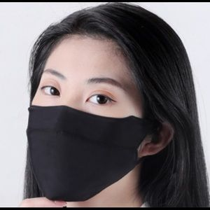 Accessories - Black Cooling Silk Cloth Face mask w/ 10 Filter